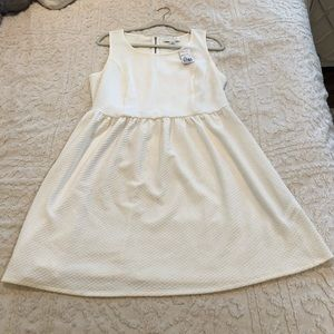 Forever21 Plus Dress Waffle Stretchy Cream NWT